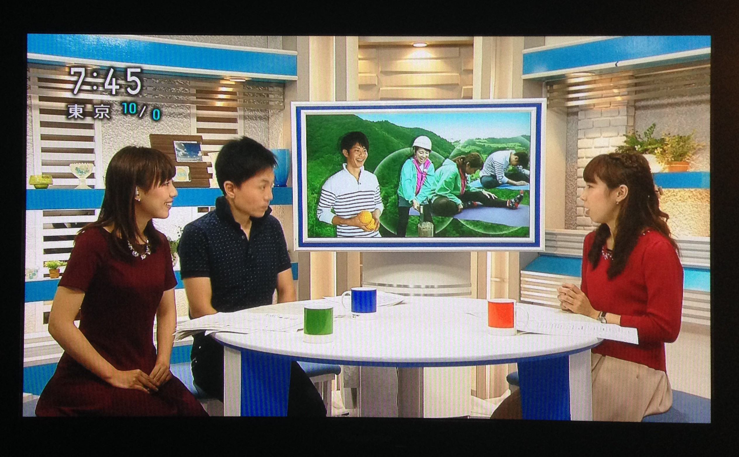 NHKの朝の番組でネイチャーエクササイズが取り上げられました!