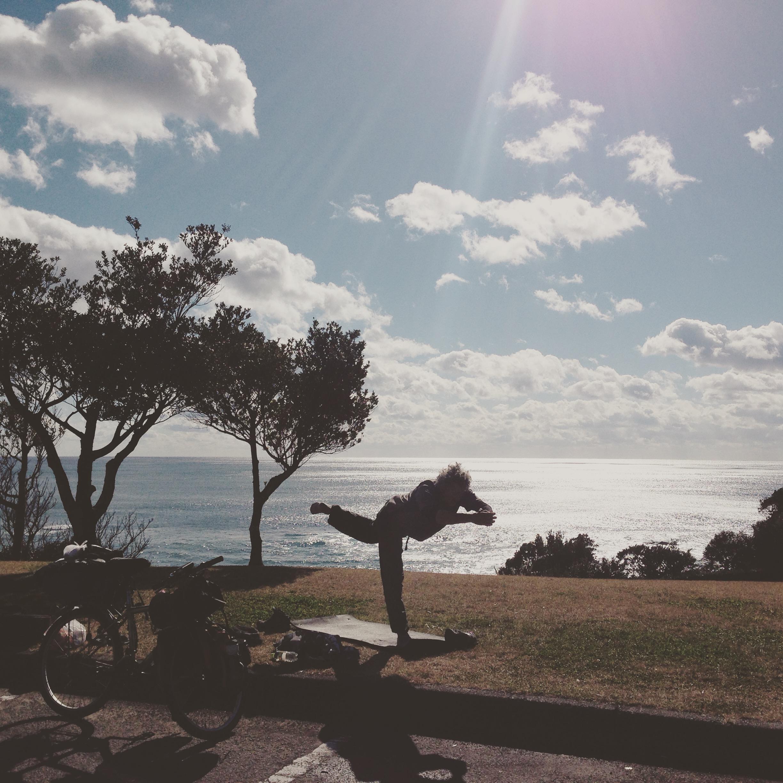 フランスから自転車で旅をしているフランス人